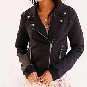 Anthro. Pins & Needles Moto Sweater Jacket